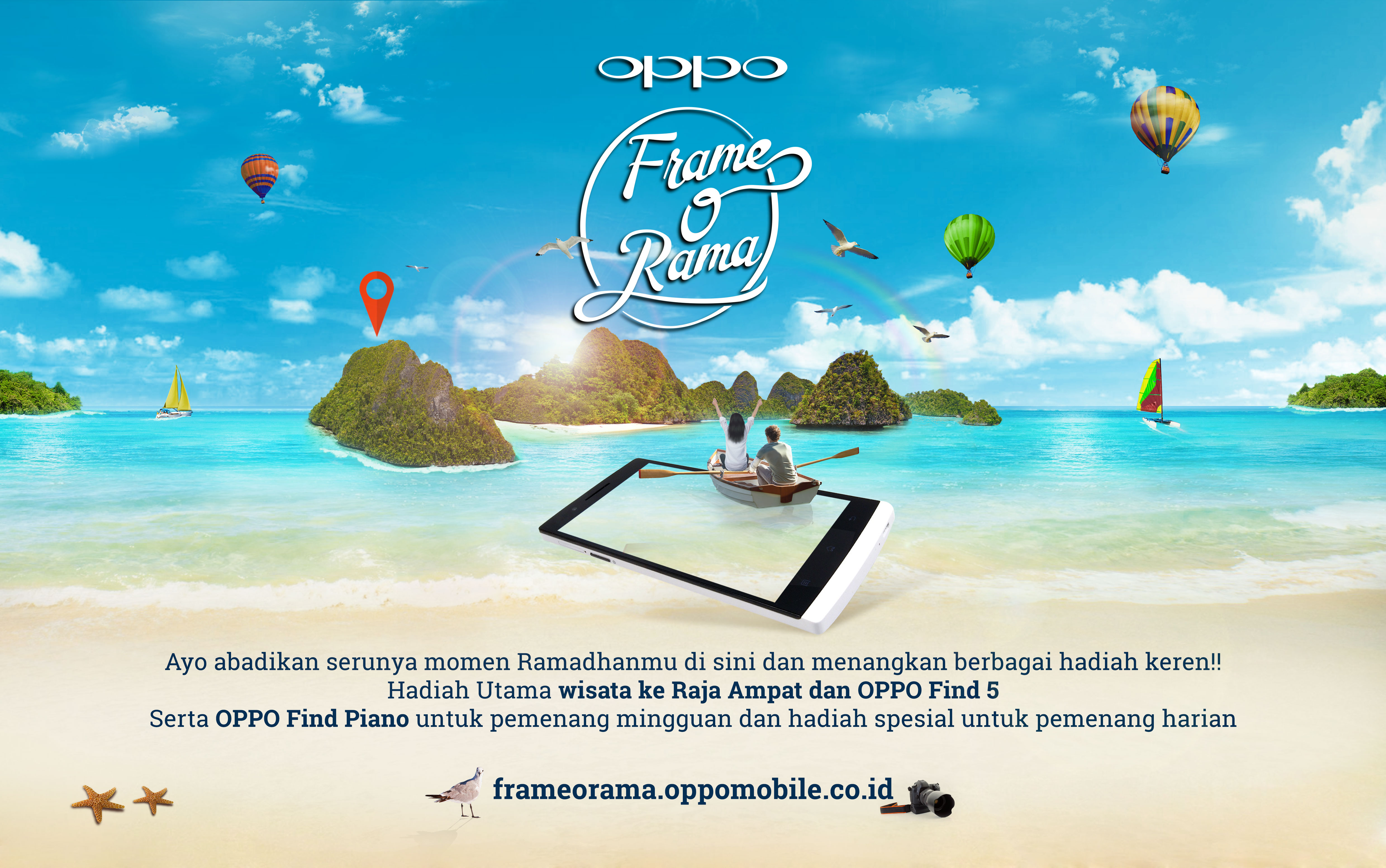 OPPO Find 5 Indonesia | Playing with hastag #FrameORama