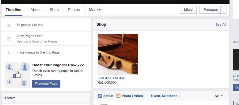 Selamat Datang Facebook Commerce 3