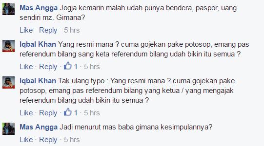 -4 Mas Angga Orang Jawa mah enak. Jogja bikin Referendum ga...